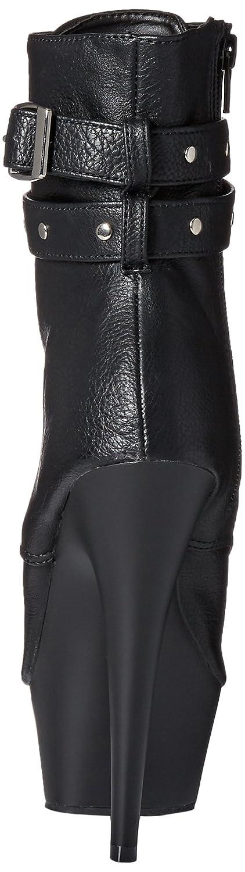 Pleaser Delight-1033, sexy High Heel Peep-Toe-Stiefelette Peep-Toe-Stiefelette Peep-Toe-Stiefelette mit Plateau, Lack-Schwarz, 35-41, Blk Faux Leather Blk Matte, 40 8af30f