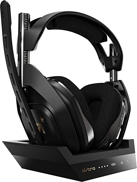 ASTRO Gaming A50 Wireless Gaming Headset + Gen 4 Base Station for Xbox and PC BlackGold (with Dolby Audio)