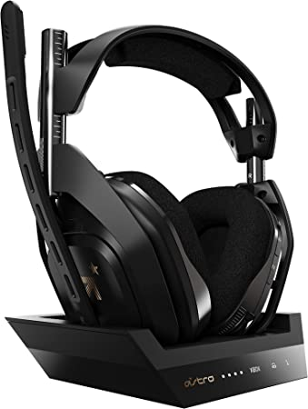 Oferta amazon: ASTRO Gaming A50 Auriculares inalámbricos Gaming y Base de Carga, 4ta Gen, Dolby Audio & Atmos, Control de Balance de Juego/Voz, 2.4 GHz, 9m Alcance para Xbox Series X|S, Xbox One, PC, Mac -Negro/Oro