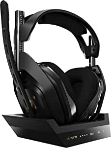 ASTRO Gaming A50 Wireless Gaming Headset + Gen 4 Base Station for Xbox & PC - Black/Gold (with Dolby Audio)