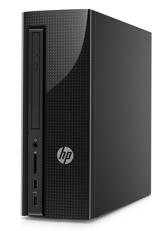 HP 260-A010 Premium Slimline Desktop - Intel Quad-Core Pentium J3710 up to 2.64GHz, 4GB RAM, 1TB HDD, DVD, 802.11bgn, Bluetooth 4.0, HDMI, USB 3.0, Windows 10 Home (Certified Refurbished)
