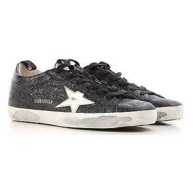 1e49687a Golden Goose Deluxe Brand Superstar Black Metallic Women Sneakers  G32WS590.G27 Size 36 (6