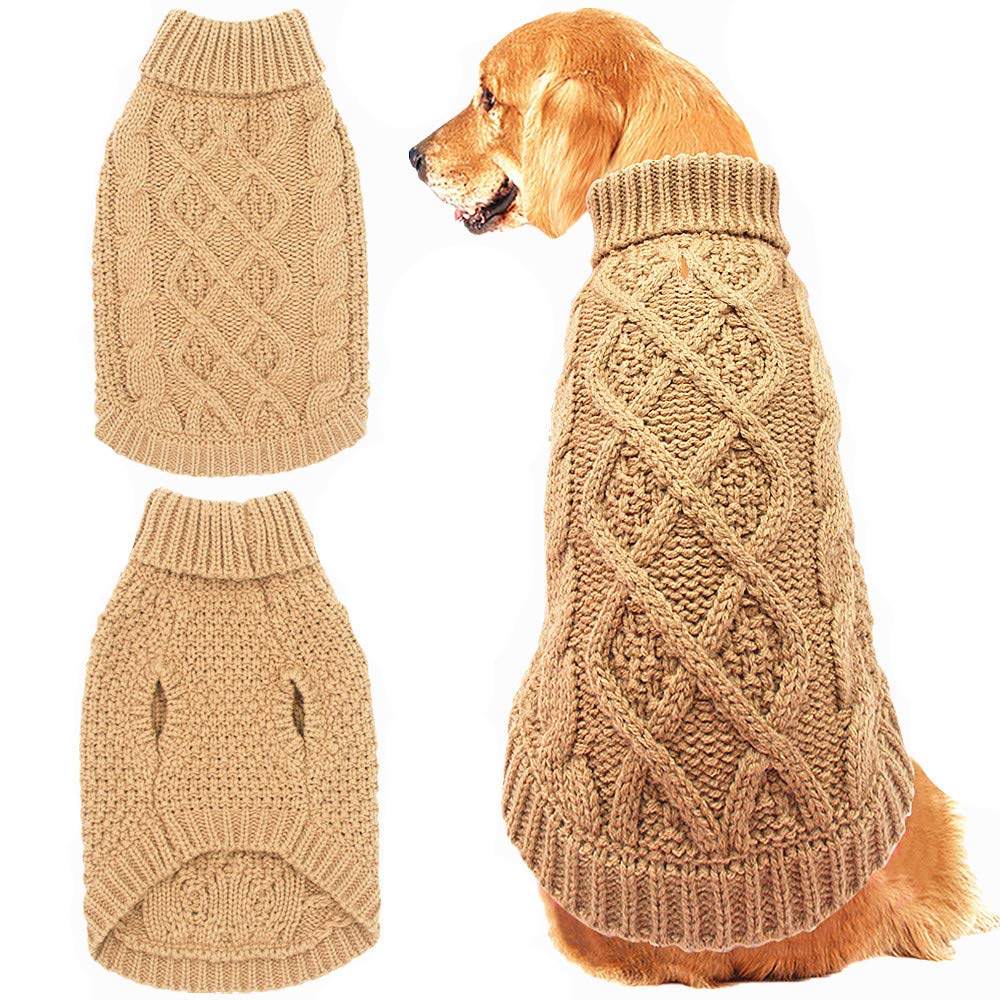 Mihachi Classic Cable Knit Dog Sweater