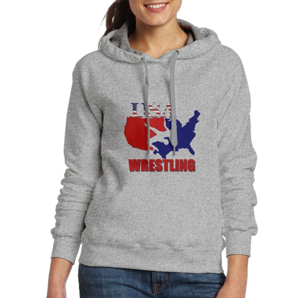 Michgton Hoodies for Girl USA Wrestling Fashion Hooded Pullover Sweatshirts