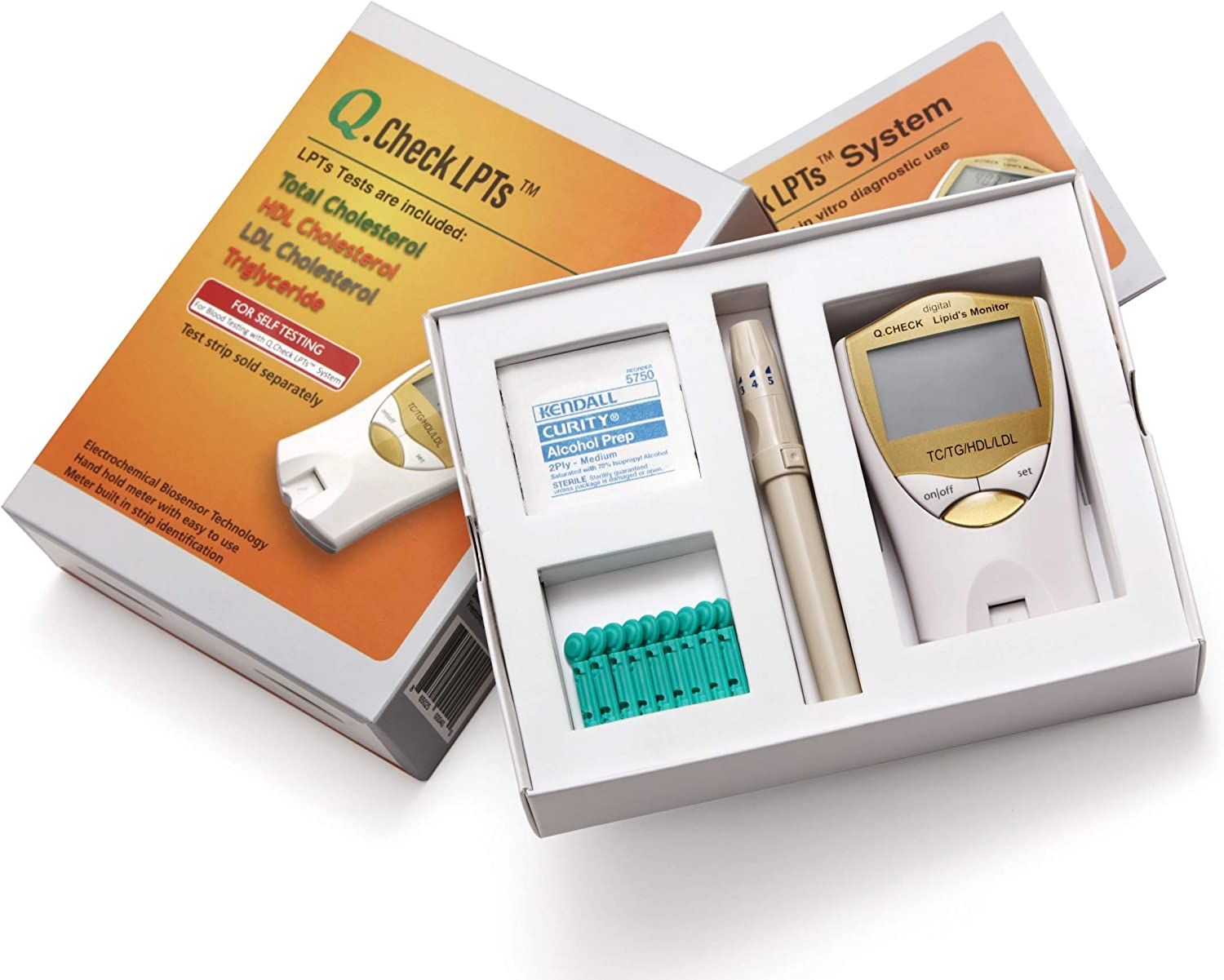 Helse Q.Check Digital Home Cholesterol & Lipid Test Meter, Monitors Total Cholesterol, LDL, HDL, and Triglycerides