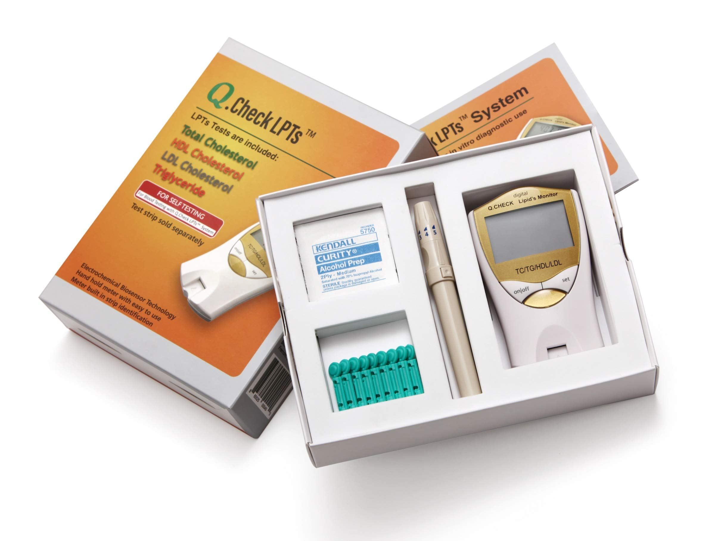 Helse Q.Check Digital Home Cholesterol & Lipid Test Meter, Monitors Total Cholesterol, LDL, HDL, and Triglycerides, 1 count