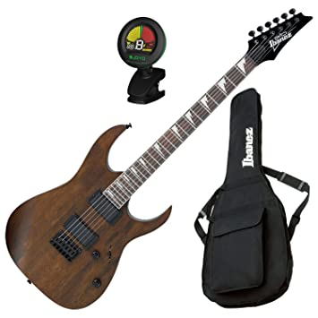 Ibanez grg121dxwnf guitarra eléctrica nogal soporte de W/bolsa de concierto y sintonizador