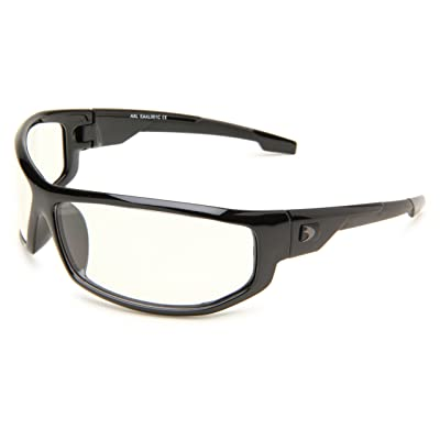 Bobster AXL Wrap Sunglasses, Black Frame/Clear Anti-fog Lens: Clothing