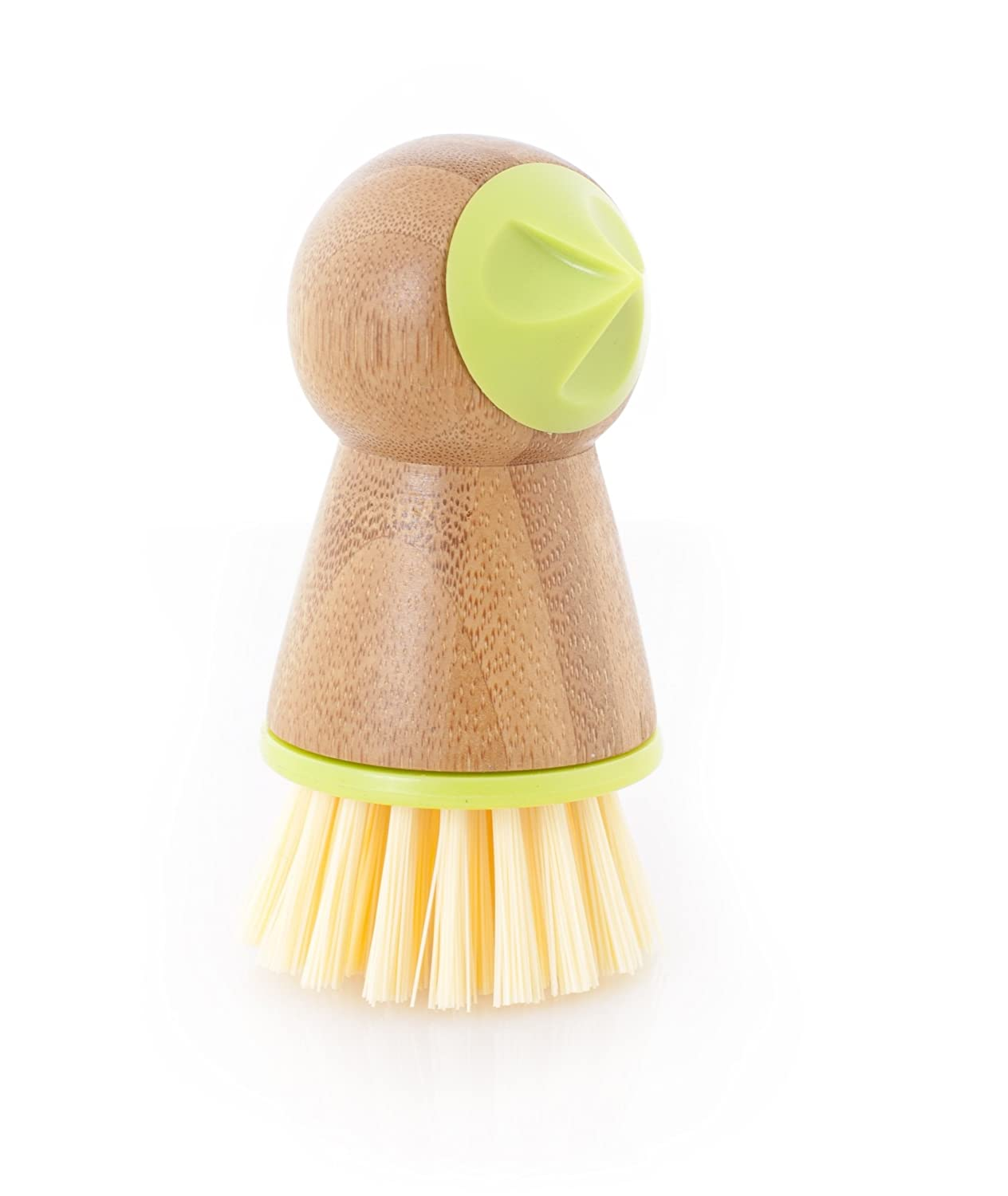 Full Circle Tater Mate Bamboo Potato Brush with Eye Remover, Green