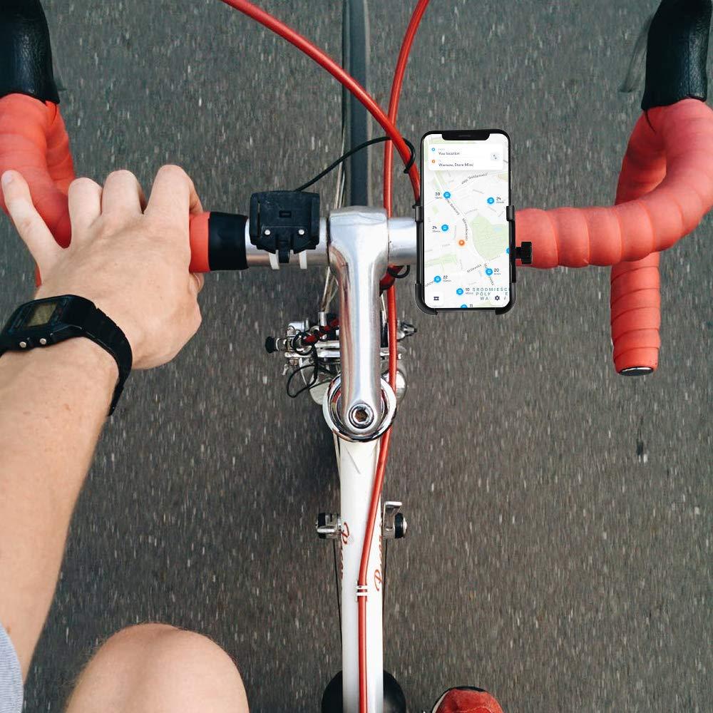 manillar de bicicleta y soporte de motocicleta para tel/éfono X//8//8 Plus//7//7 Plus//6S Plus Huawei y otros dispositivos GPS de ciclismo de 3.5 a 7 tel/éfono celular universal Samsung CosyInSof/á Soporte de tel/éfono para bicicleta