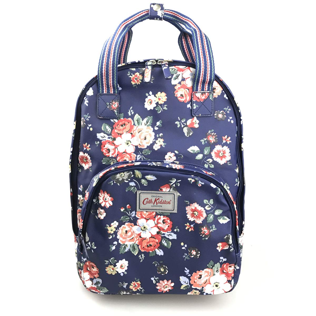 Amazon.com: Cath Kidston Matt Oilcloth Multi Pocket Backpack Forest Bunch  Navy Fitting 13