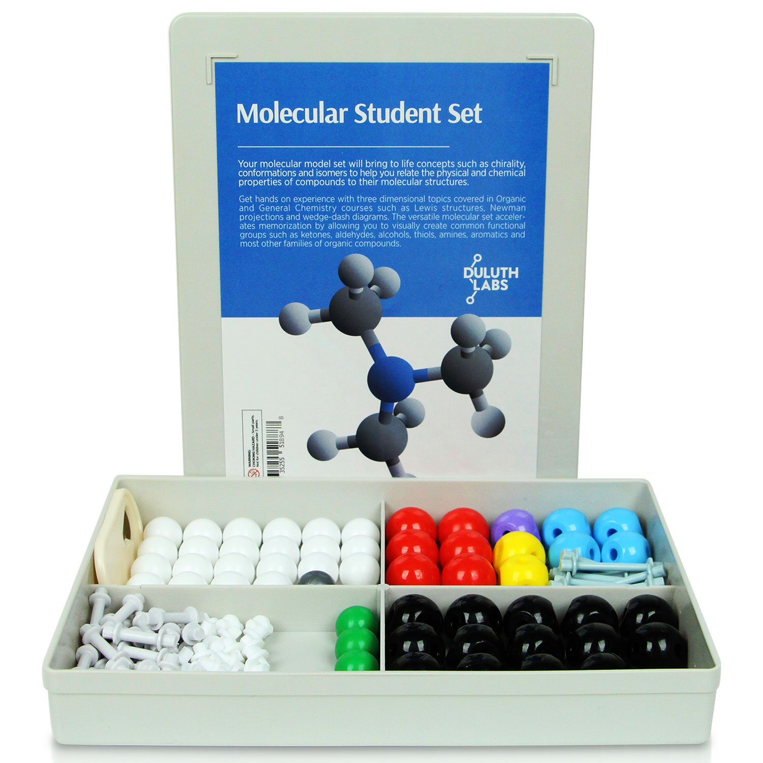 Duluth Labs Organic Chemistry Model Student Kit – (125 Pieces) – MM-003