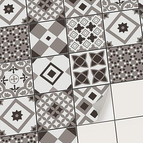 Carrelage adhesif Cuisine et Salle de Bain - Mosaique Sticker carrelage  Mural I Adhésive décorative Carreaux de Ciment I Stickers carrelage  Peinture ...