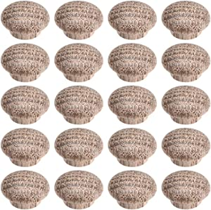 uxcell Wood Button Plugs 0.4 Inch Oak Screw Hole Furniture Plugs 50 Pack