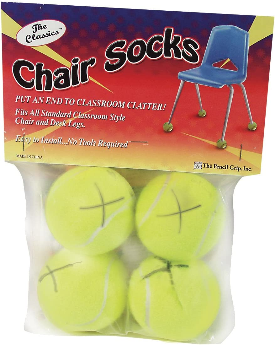 The Classics Chair Sox, Yellow, 4 Count (TPG-230) : Tennis Balls For Chairs : Office Products