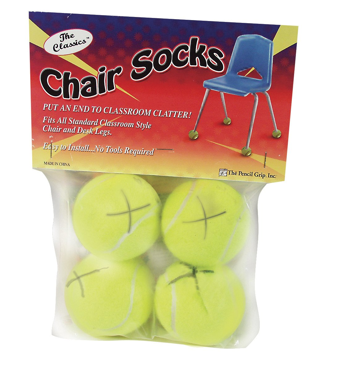 Pencil Grip The Classics Chair Sox, Yellow, 4 Count (TPG-230) THE PENCIL GRIP EDRE21843