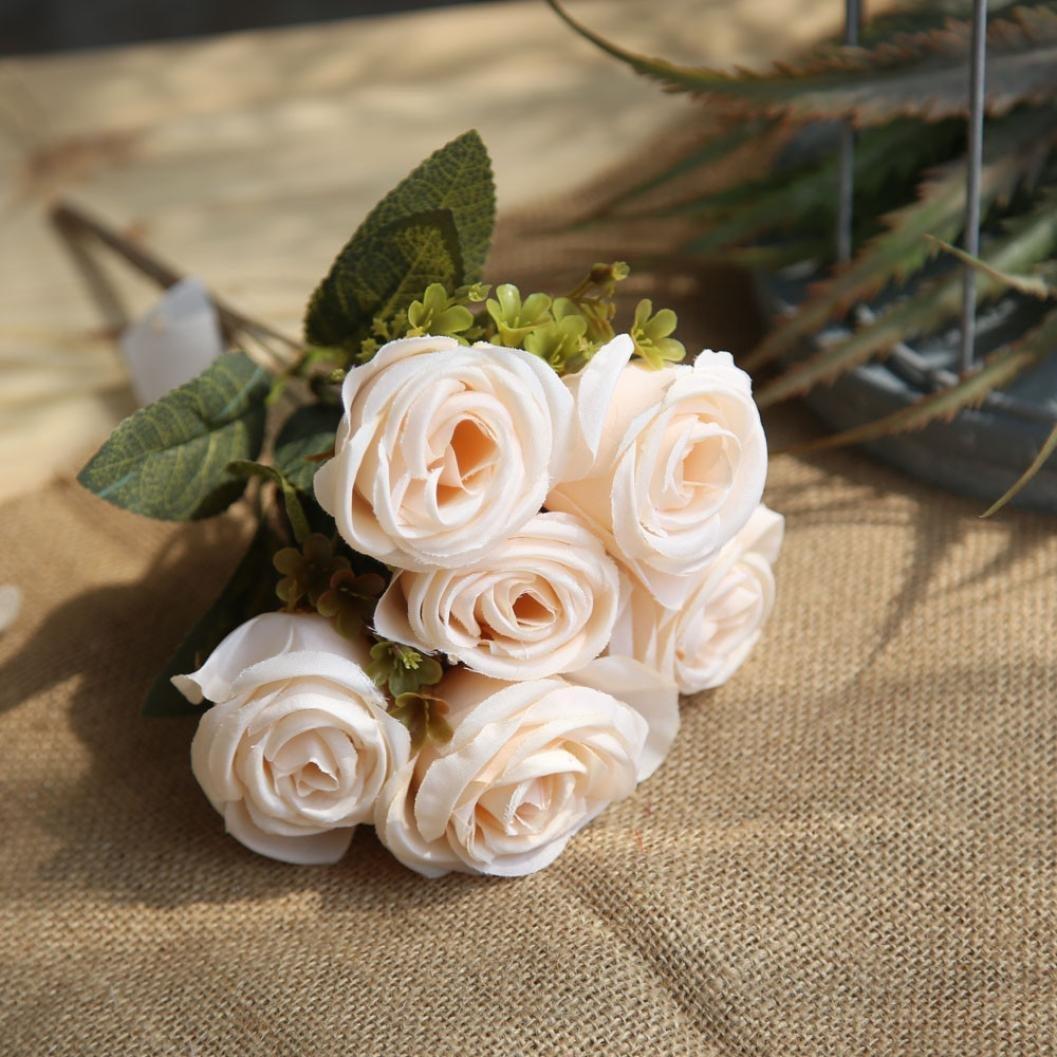 YJYdada-Artificial-Silk-Fake-Flowers-Roses-Floral-Wedding-Bouquet-Bridal-Decor-E