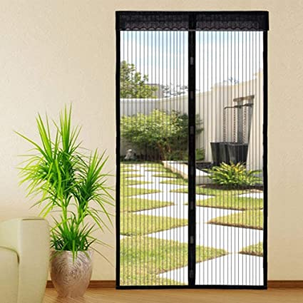 Upscale Magnetic Fly Screen Door  Door Mesh Fly Mosquito Curtain With  Magnets U0026 Full Frame Velcro ...
