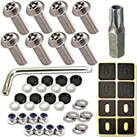 Black Screw Covers for Fastening License Plates Nylon Screw Inserts Frames and Covers EZ458 Stainless Steel Screws License Plate Hardware Kit 400 Screw Variety Pack