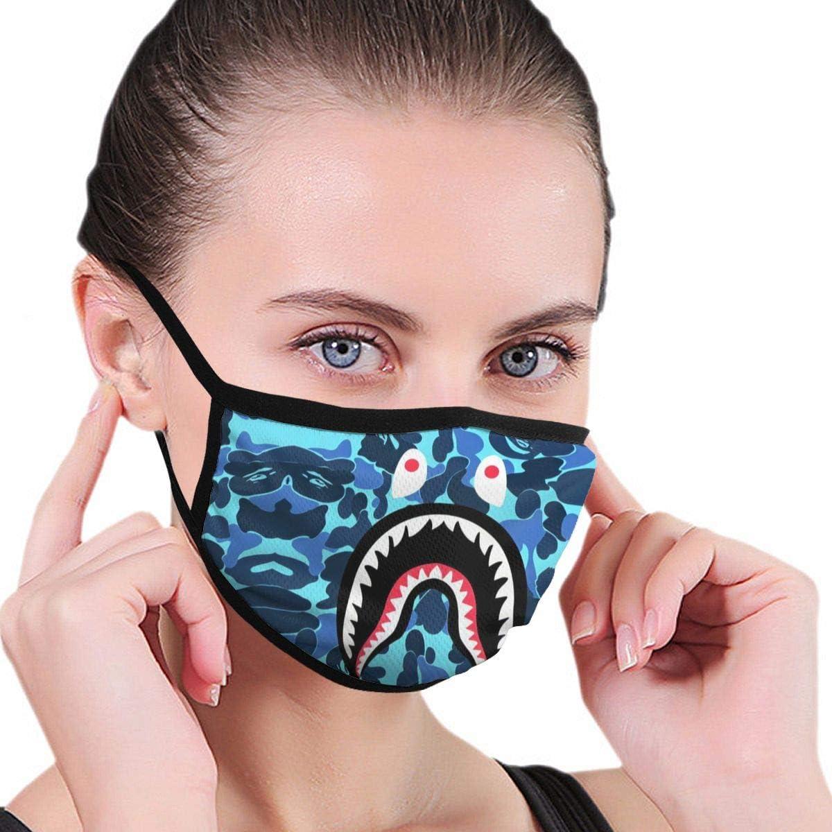 Shark Bandana Anti-dust Neck Gaiter Bape Face Mask Balaclava Scarf for Outdoors Camping