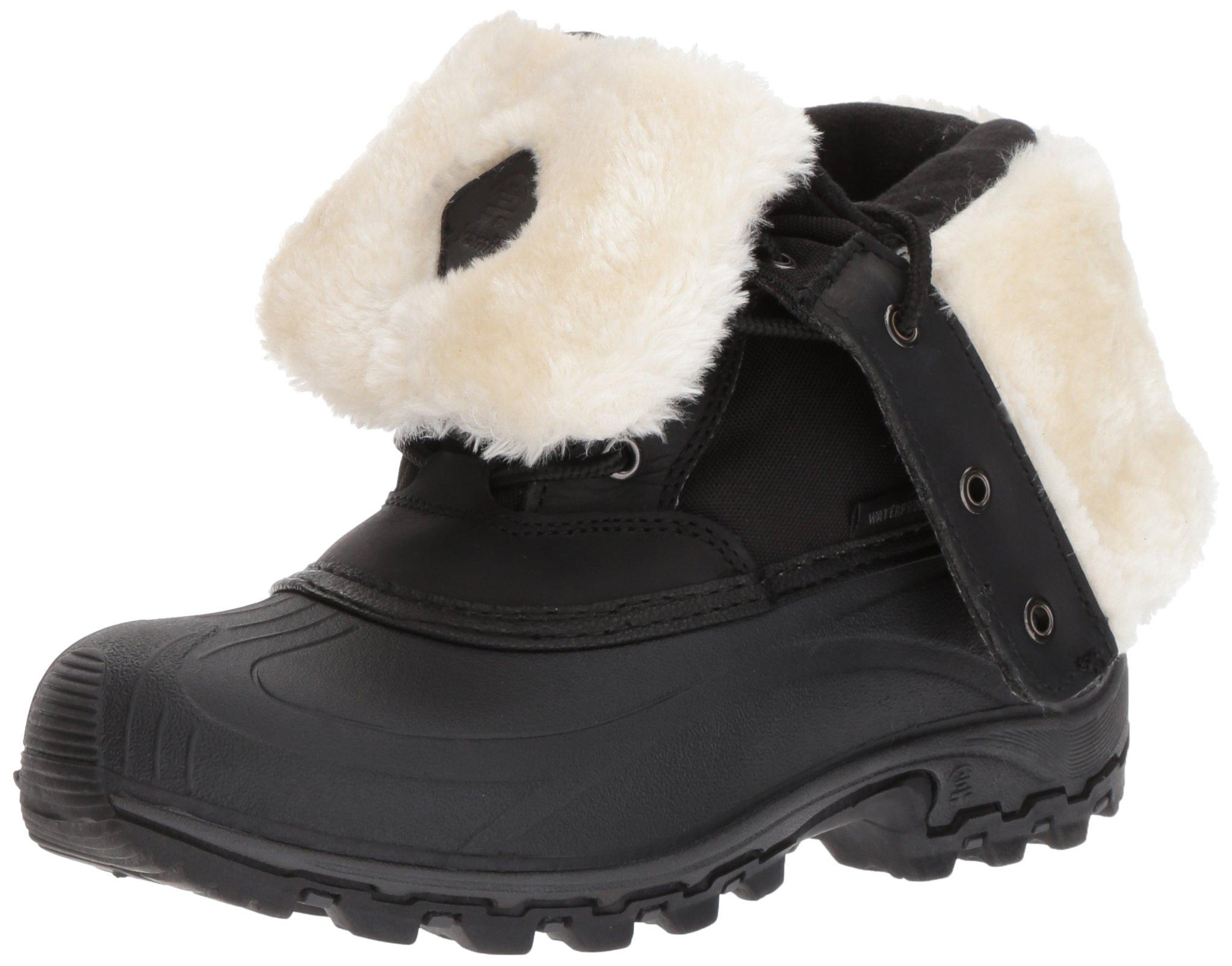 Kamik Women's Harper Snow Boot, Black/White, 9 D US