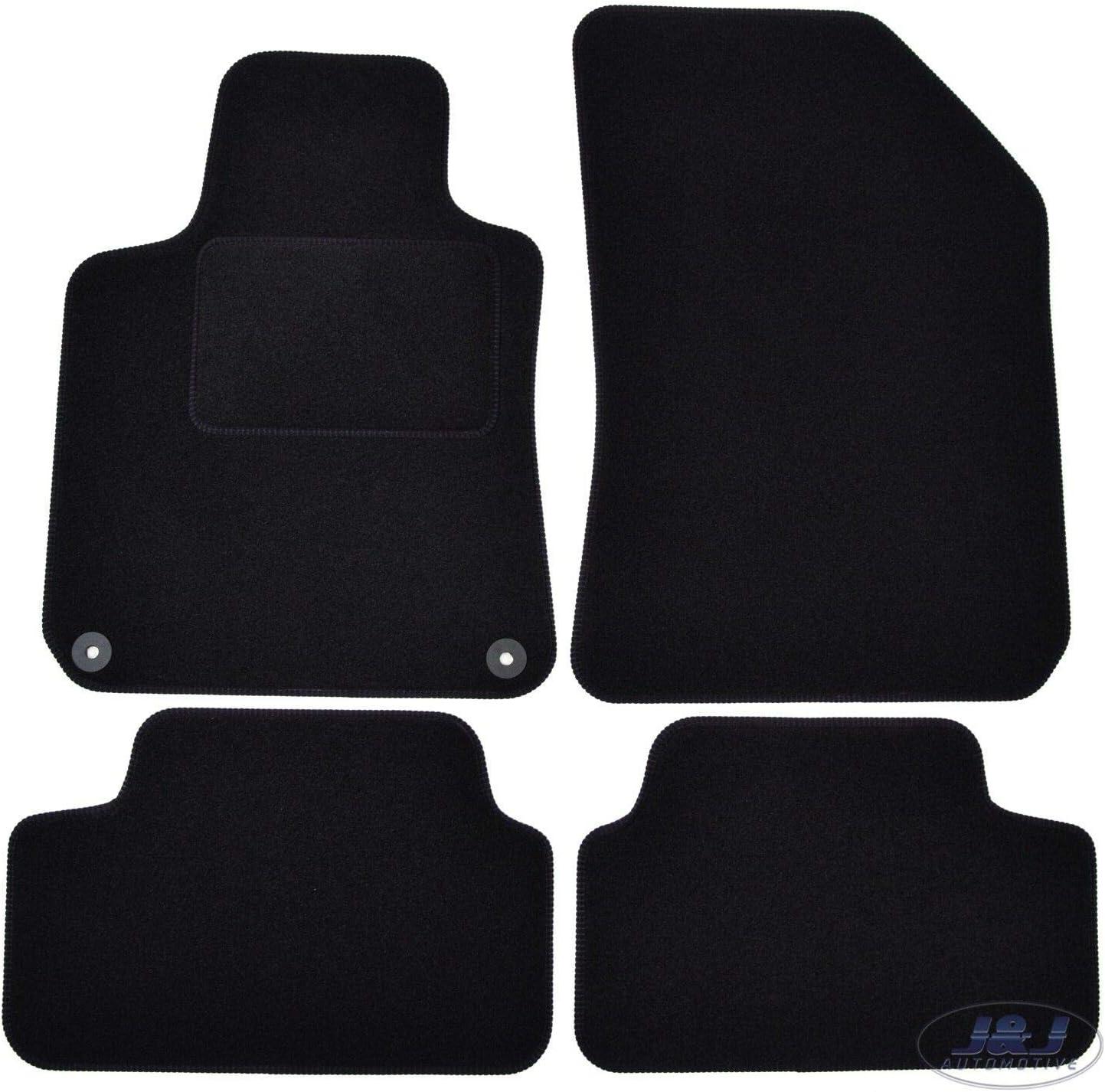 Tapis DE Sol Noir Velours Compatible avec Peugeot 308 II 2013-pr/és 4 pcs J/&J AUTOMOTIVE