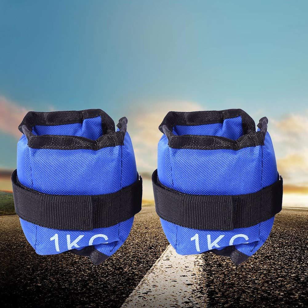 Insgesamt 6 KG und Handgelenke f/ür Fitness Bewegung Laufen Joggen Gymnastik Kn/öchelriemen Fitness,Gewichte f/ür Beine und Arme Fu/ß Gewichtsmanschetten Blau Verstellbar Laufgewichte Set f/ür Fu/ß