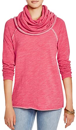 EVELUST Cute Comfy Cowl Neck Pullover,Womens Long Beach Cocoon Soft Warm  Cotton Sweaters(