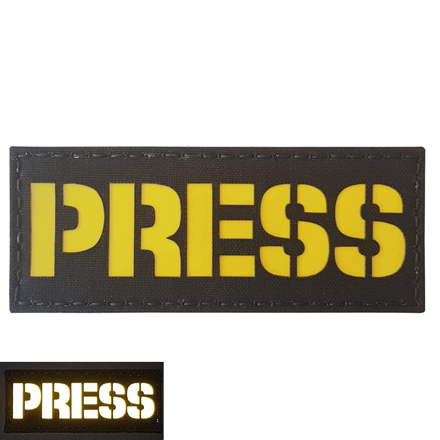 PRESS Reflective 2x5 Laser Cut Media TV Tactical Morale Fastener Patch Tactical Freaky P.4086.520