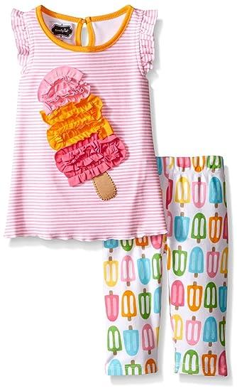 df3470f3714 Amazon.com  Mud Pie Baby Girls 2 Pc Set Popsicle Tunic   Capri 9-12 Months   Clothing