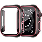 ZEBRE Case Compatible with Apple Watch Screen Protector 40mm, Hard PC Protective Bumper Case with HD Tempered Glass Screen Pr