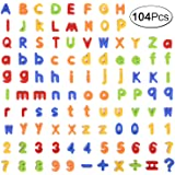 104 Pcs Magnetic Letters Numbers Alphabet Magnets with Uppercase Lowercase Letter for Kids Preschool