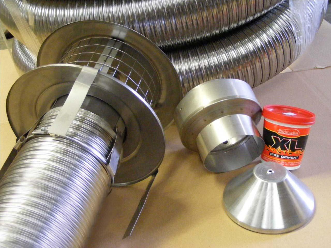 10m stainless 6 inch quality chimney flue liner easyfit kit