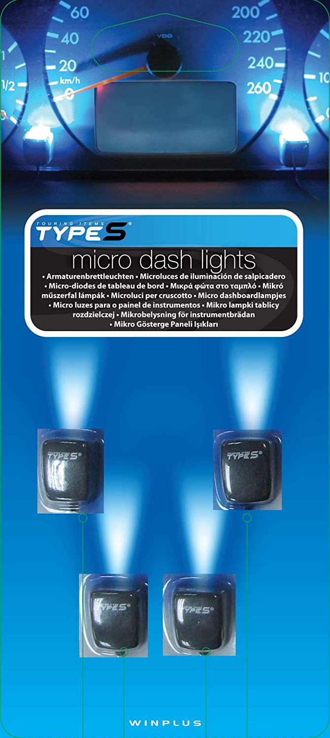 Winplus Type S LM50082-60//6 Charcoal Gray Quad Micro Dash Light
