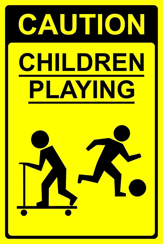 Amazon.com: Caution Children Playing Sign - 1.2mm rigid ...
