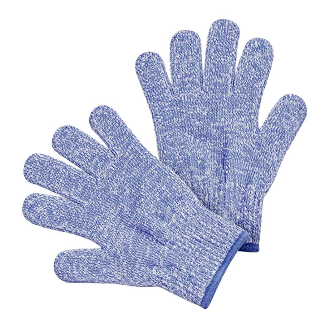 MomeCut-Resistant Glove 1 Pair Small Adult Anti Cut Gloves Maximum Kids Cooking Protection Tools,S: 14cm / M: 15cm / L: 18 cm (M, Blue)