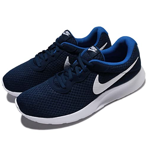 4a8429da9740c Nike Men's Tanjun Midnight Navy/White Game Royal Running Shoes (812654-414)
