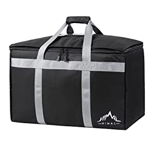 Himal Outdoors Insulated Food Delivery Bag, Pizza Delivery Bag | Premium Insulated Grocery Bag for HOT/Cold Food Delivery,Professional Catering Transportation,23Wx15Hx14D inches.