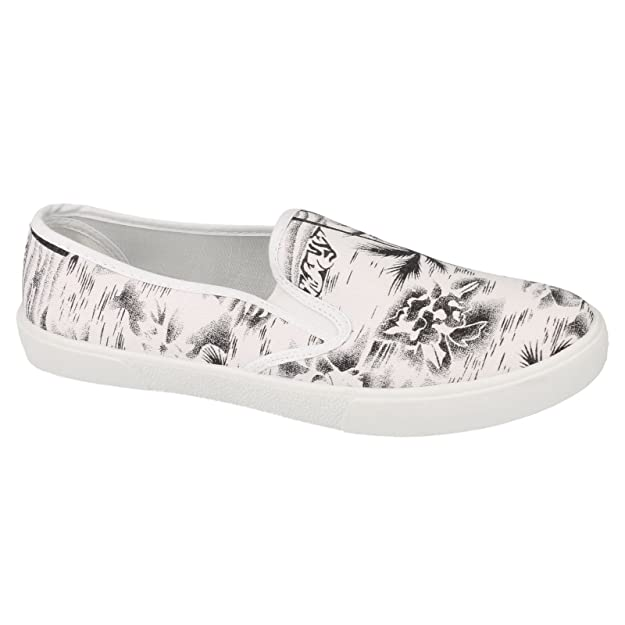 Spot On Womens/Ladies Tropical Palm Tree Slip On Casual plimsolls:  Amazon.co.uk: Shoes & Bags