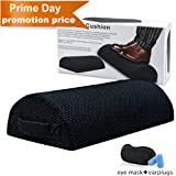 Foot Rest Cushion Under Desk,Memory Foam Half Moon Bolster Pillow for Optimum Leg Clearance to Relieve Leg,Foot,Hip,Ankle and Joint Pain