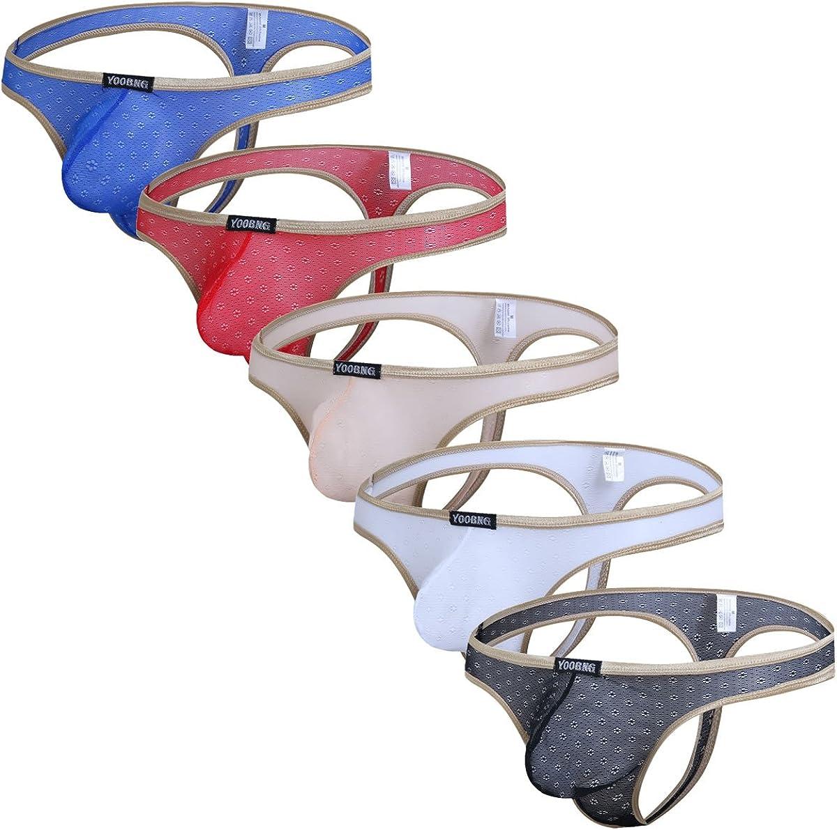 Men Lingerie Pouch  Jockstrap Thongs Underwear Bikini Panties G String Briefs