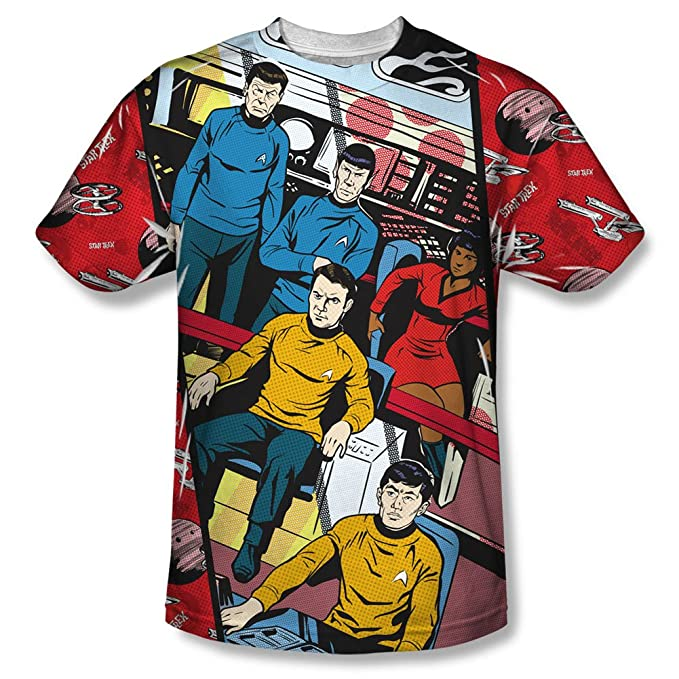 Star Trek larga Panel de impresión de sublimación poliéster SS adulto camiseta: Amazon.es: Ropa y accesorios