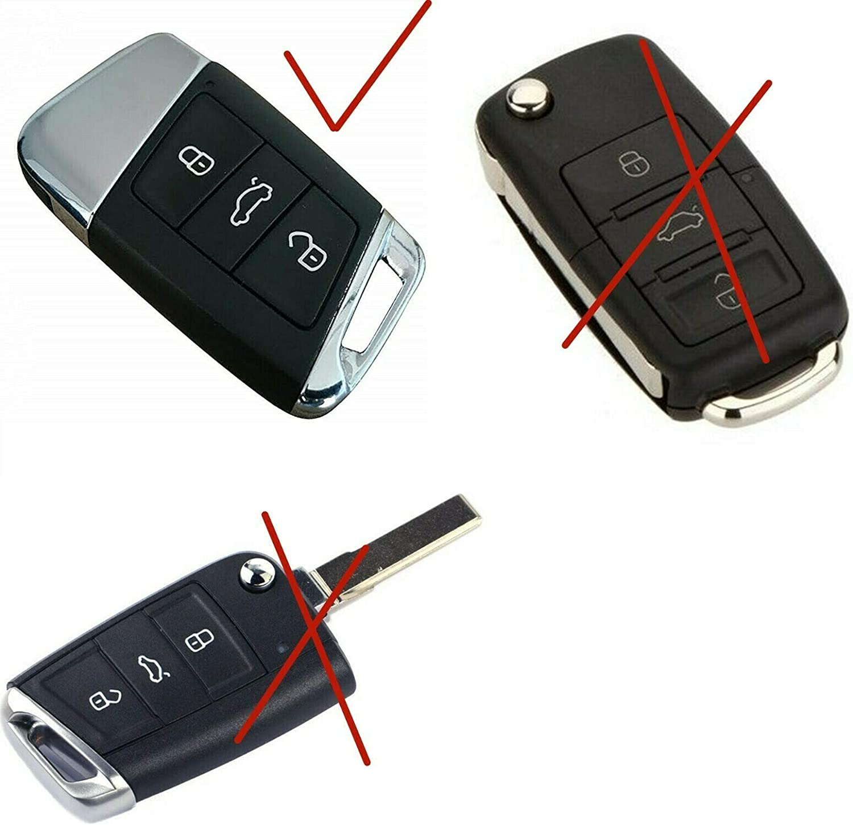 Max Auto Carbon Rot Carbon Look Gfk Schlüssel Cover Hülle Schlüssel Schutz Passend Für Arteon T Roc Tiguan Touareg Golf 7 T Cross Passat Touran Auto