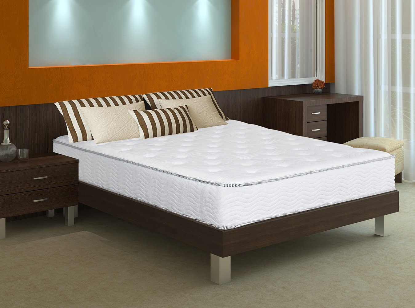 SLEEPLACE 10 in Milky way Tight Top Spring Mattress, Full
