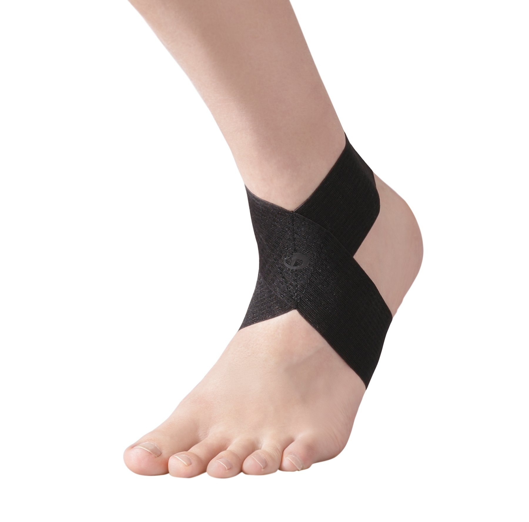 Phiten Ankle Knee Support Wrap, Black, Small