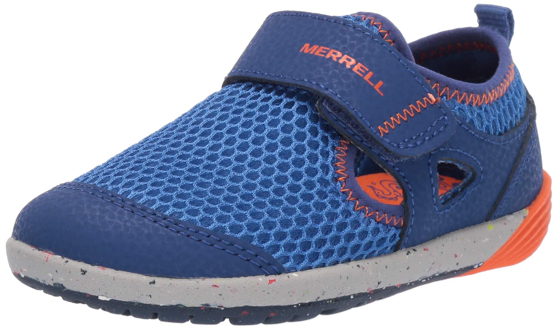 Merrell Boys' Bare Steps H20 Water Shoe, Blue/Orange, 5.5 Medium US Toddler