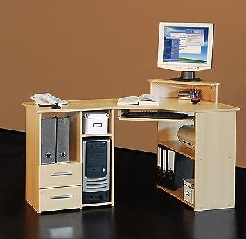 Schreibtischplatte ecke for Computertisch ecke