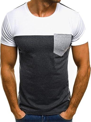 Camiseta para Hombre, Xinan T-Shirt Camiseta para Hombre tee Cuello Redondo Tops Camisetas Ropa Hombre Deportiva 2018 Ofertas: Amazon.es: Ropa y accesorios