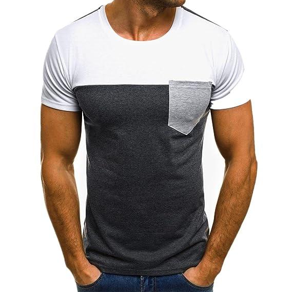 Camiseta para Hombre, ❤️Xinan T-Shirt Camiseta para Hombre tee Cuello Redondo Tops