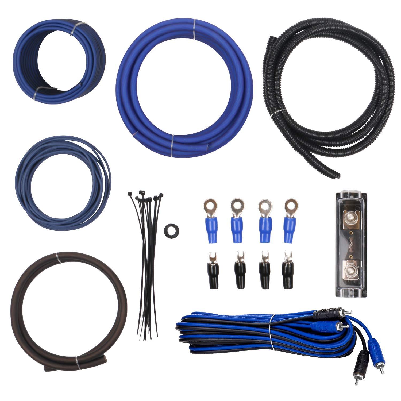 WLLDSE 4 Gauge Amplifier Installation Wiring Kit